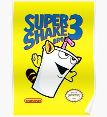 Super Shake Bros. 3 (Print Version) Poster