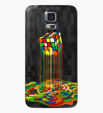 Rainbow Abstraction melted rubiks cube Case/Skin for Samsung Galaxy