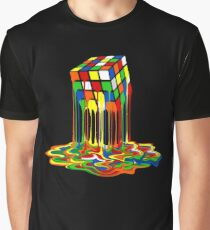 Rainbow Abstraction melted rubiks cube Graphic T-Shirt