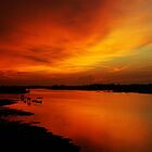 River Sunset in Sabah  by Peter Doré