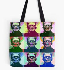Frankenstein Pop Art Tote Bag