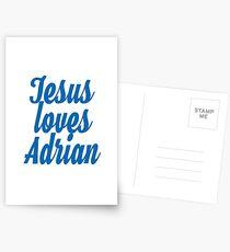 Jesus loves Adrian Postcards