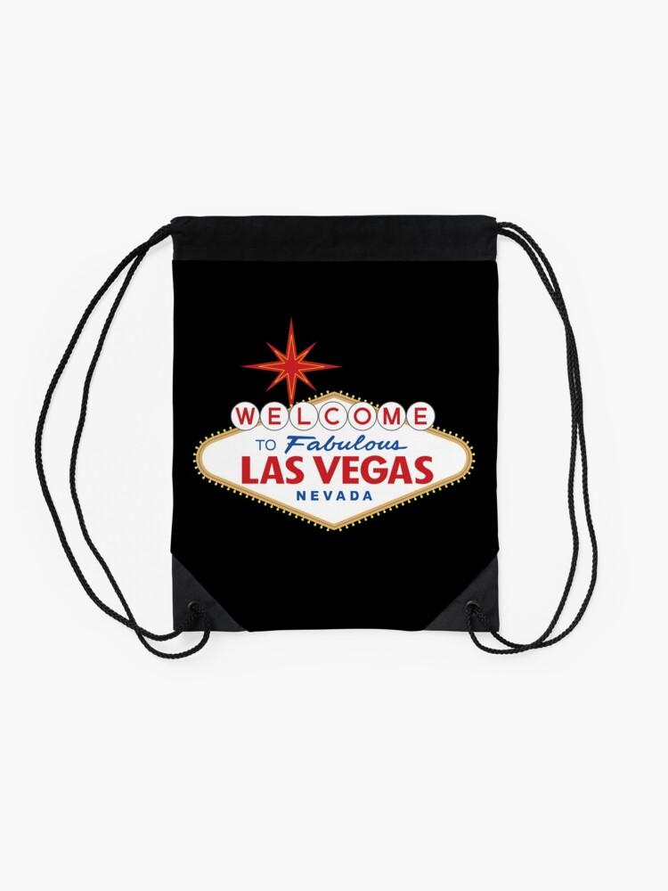Alternate view of Welcome to Fabulous Las Vegas Sign Drawstring Bag