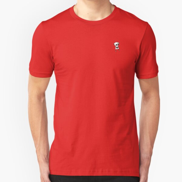 Doodle Dave White and Red Slim Fit T-Shirt