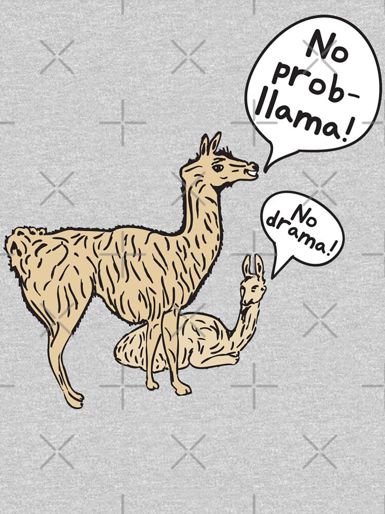 LANBRELLA No Drama No Llama Men Classic Crew Neck Short Sleeve Tee Shirt