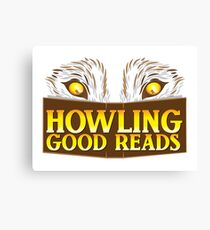 Howling good reads bookstore logo The Others reading series fan art Canvas Print