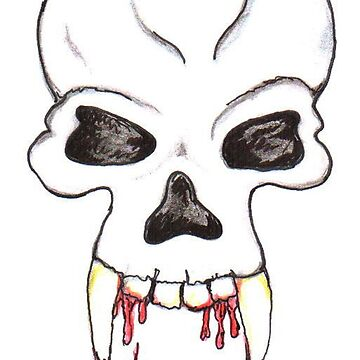 Dripping Bloody Vampire Skull by DeepDenn