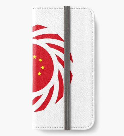 Chinese American Multinational Patriot Flag Series iPhone Wallet
