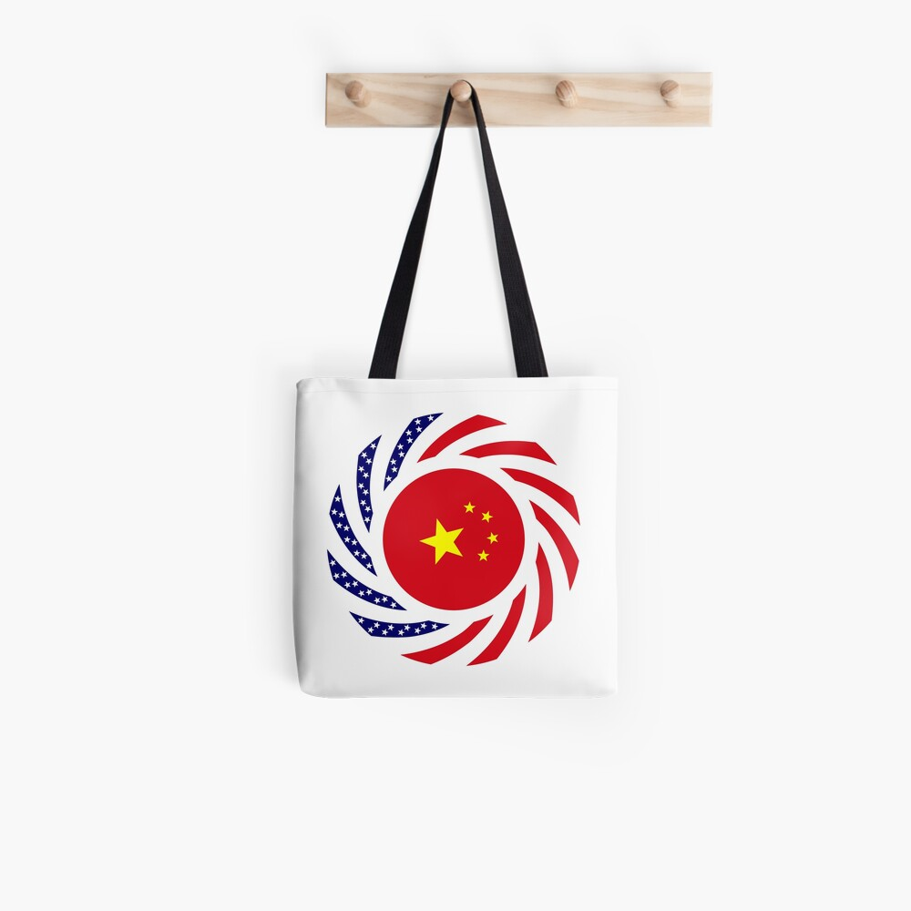 Chinese American Multinational Patriot Flag Series Tote Bag