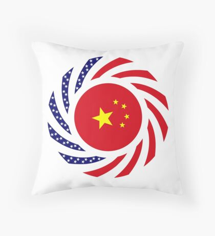 Chinese American Multinational Patriot Flag Series Throw Pillow