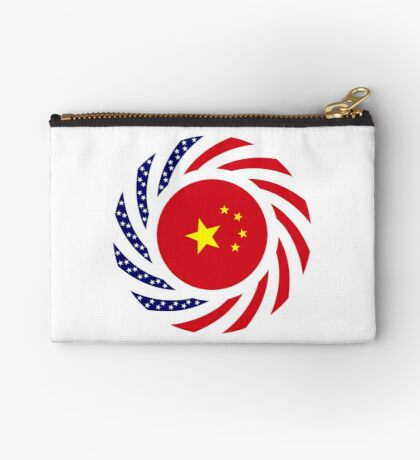 Chinese American Multinational Patriot Flag Series Zipper Pouch