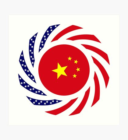 Chinese American Multinational Patriot Flag Series Art Print