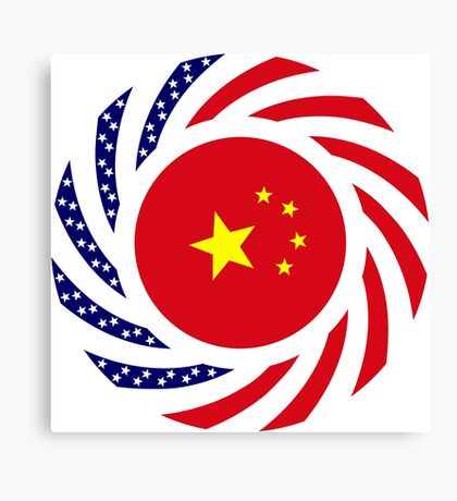 Chinese American Multinational Patriot Flag Series Canvas Print