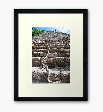 steps of the maya Framed Print