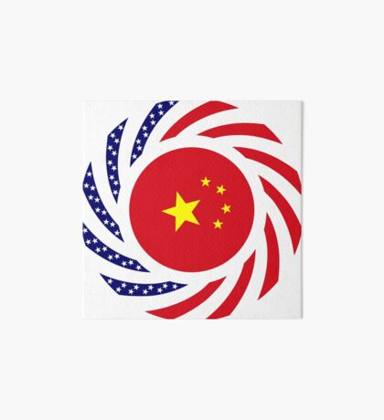 Chinese American Multinational Patriot Flag Series Art Board Print