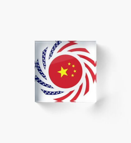 Chinese American Multinational Patriot Flag Series Acrylic Block