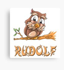 Rudolf Owl Canvas Print