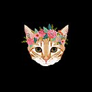 Orange Tabby cat breed with floral crown cute cat gifts cat lady must haves by PetFriendly