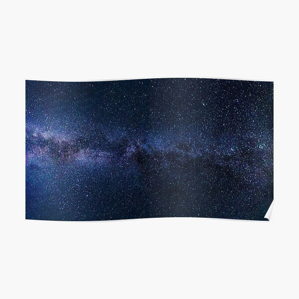 A galaxy of stars in the night sky Poster