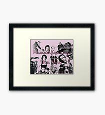 50s Collage Framed Print