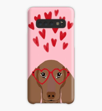 Dachshund valentines day love heart gifts dog breed doxie must haves Case/Skin for Samsung Galaxy