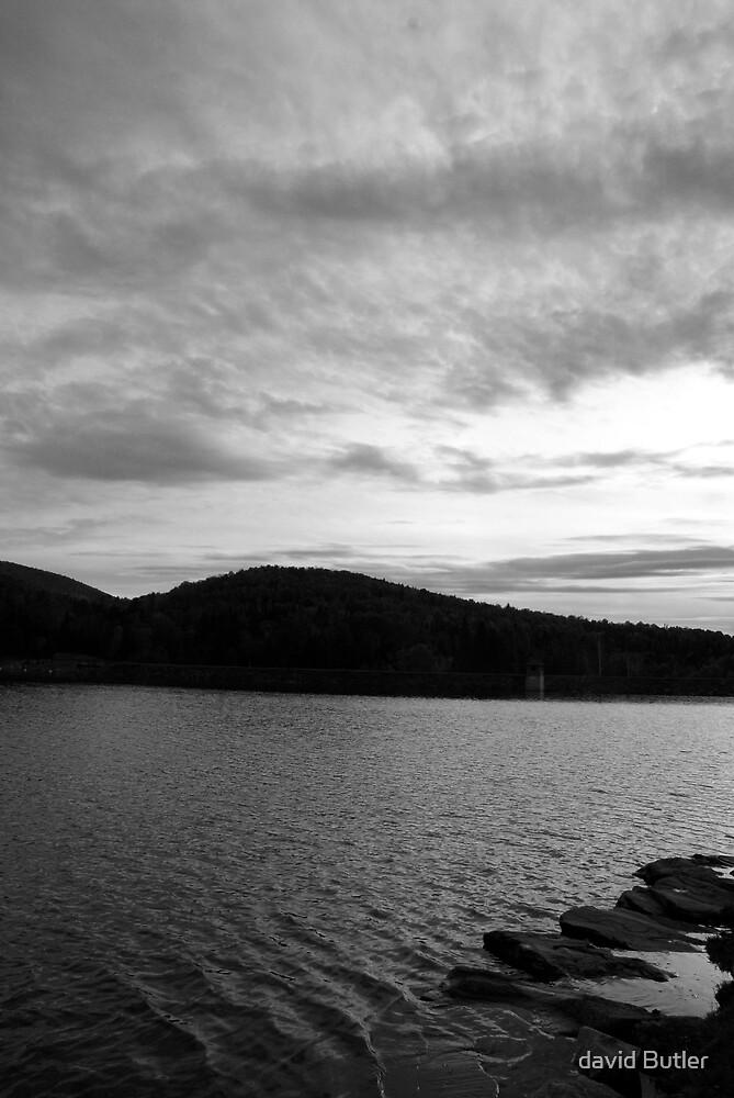 black and white lake by david Butler