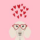 Dachshund valentines day love heart gifts dog breed doxie must haves by PetFriendly