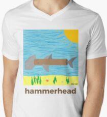 hammerhead by Prinz Paint Men's V-Neck T-Shirt