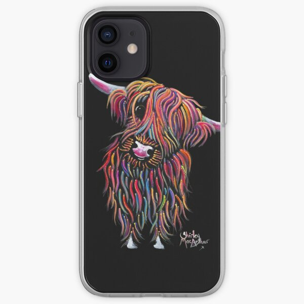 Scottish Highland Cow ' BoLLY ' by Shirley MacArthur iPhone Soft Case
