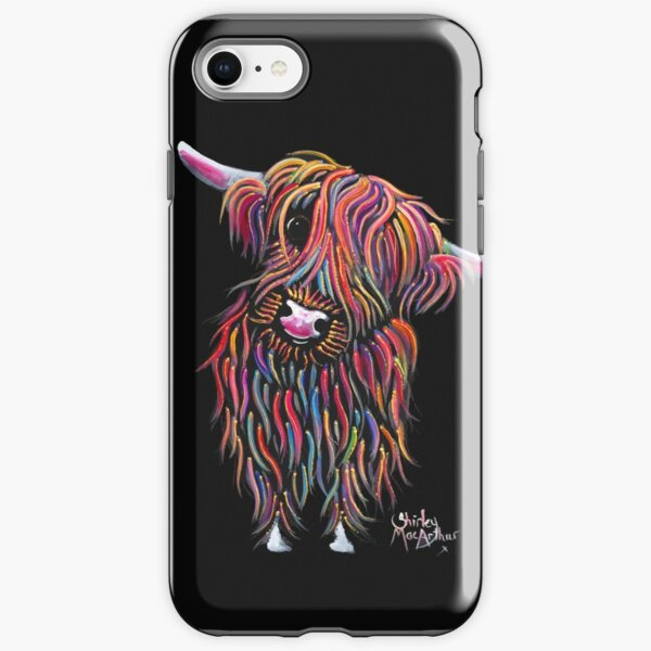 Scottish Highland Cow ' BoLLY ' by Shirley MacArthur iPhone Tough Case