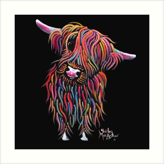 HIGHLAND COW PRINTS ART of Original Painting /' BuTTeRNuT /' by SHIRLEY MACARTHUR