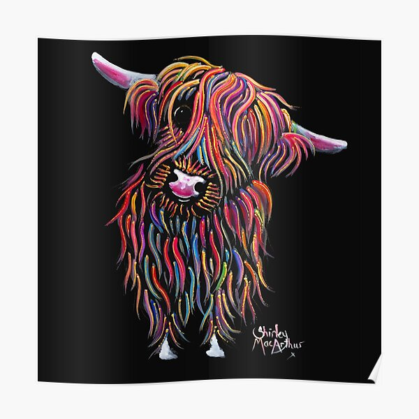 Scottish Highland Cow ' BoLLY ' by Shirley MacArthur Poster