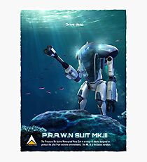 P.R.A.W.N SUIT (Sea) Photographic Print