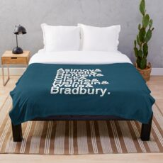 Sci-Fi Authors Helvetica Throw Blanket