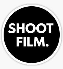 SHOOT FILM. Sticker