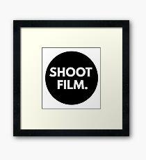 SHOOT FILM. Framed Print