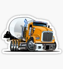 Cartoon Mixer Truck Sticker