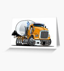 Cartoon Mixer Truck Greeting Card