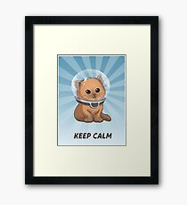 Behalte Ruhe Kitty Gerahmtes Wandbild