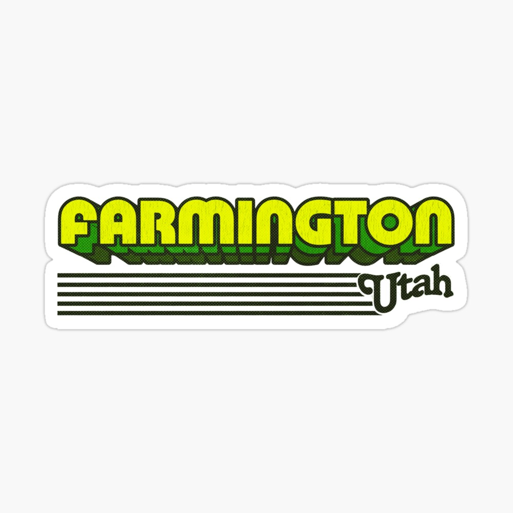 Farmington, Utah | Retro Stripes Sticker