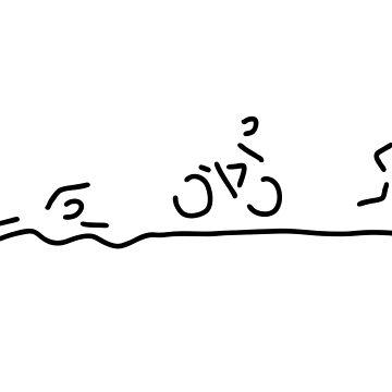 triathlon triathlet by lineamentum