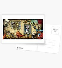Dali-Collage Postkarten