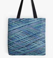 Hues of Blue Crochet Thread Tote Bag