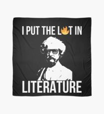 I Put The Lit In Literature Mark Twain Scarf