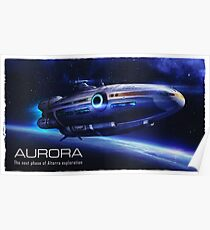 Aurora Flying Poster