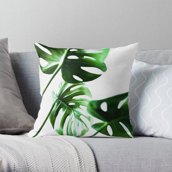 Monstera 4 Throw Pillow