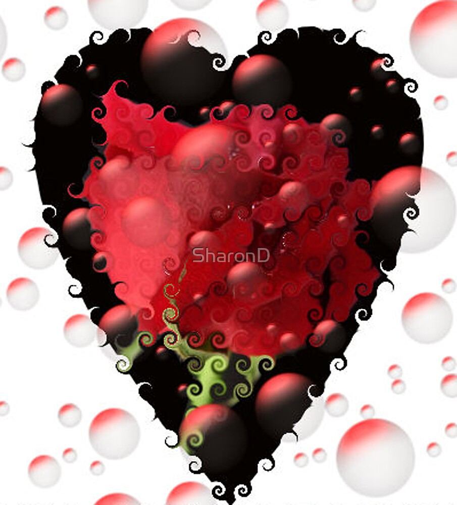 Flowers, Hearts and Bubbles by SharonD