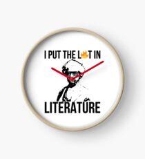 I Put The Lit In Literature Mark Twain Clock