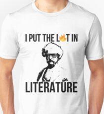 I Put The Lit In Literature Mark Twain Unisex T-Shirt