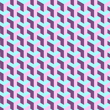 Pastel Cube Pattern by PinkFoxDesigns